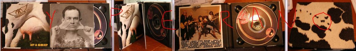 AEROSMITH: Get A Grip. Special Limited CD digipak U.S Rare 1993 in a mock cow-skin. Check videos + samples