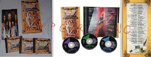 AEROSMITH: Pandora's Box. 52-track ltd. edition 3-CD box set w. unreleased tracks+64-page book. 1991 original.