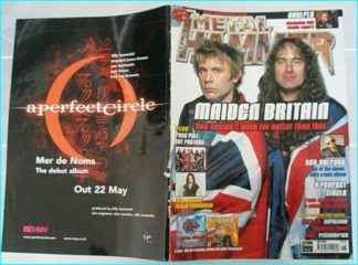Metal Hammer June 2000 issue 75. Iron Maiden (Bruce Dickinson - Steve Haris) cover. Rob Halford, Sepultura, Soulfly-