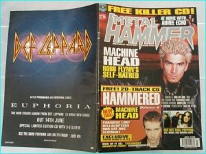 Metal Hammer July 1999 issue 64. MACHINE HEAD. Ozzy, Paradise Lost, Red Hot Chili Peppers, Machine Head, Def Leppard, S.O.D.
