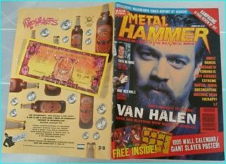 Metal Hammer January 1995 Van Halen. Faith No More, NIN,Danzig, Megadeth, Brutal Truth, Queensryche, Machine Head, Therapy, L7