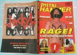Metal Hammer August 1994 Rage Against the Machine. Bon Jovi, Fish, Paradise Lost, Tool, Gun, Whitesnake, Soundgarden, KMFDM