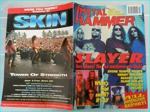 Metal Hammer July 1994 SLAYER. Stone Temple Pilots, Rollins, Beastie Boys, Blind Melon, Metallica, Helmet, L7, Aerosmith, Kyuss