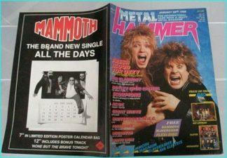 Metal Hammer January 1988 Ozzy Osbourne / Zakk Wylde. Dio, Kiss, Uriah Heep, Queensryche, Deep Purple, Motley Crue, AC/DC, MSG