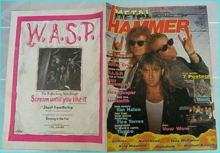Metal Hammer September 1987 DEF LEPPARD. Van Halen, Motley Crue, WASP, Ozzy Osbourne, Dio, Anthrax, Testament, Twisted Sister