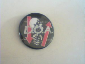 D.O.A: Pin Button. Free for orders of £25+