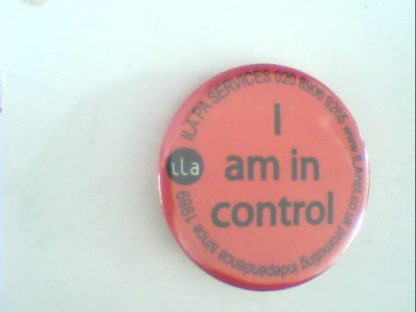 I am in Cotrol: Pin Button. Free for orders of £25+