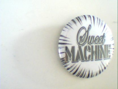 Sweet Machine: Pin Button. Free for orders of £25+
