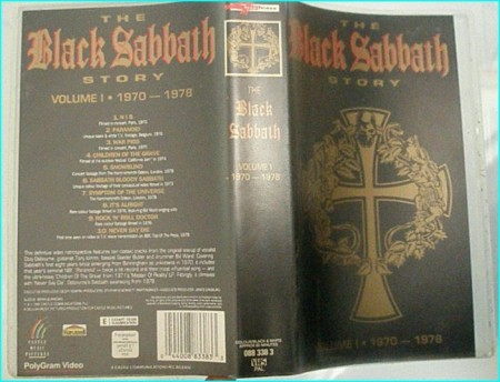 Black Sabbath story volume I 1970- 1978 VHS video tape (official) w. many interviews