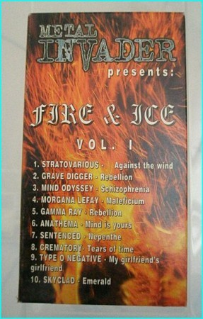 Fire & Ice Vol 1 Metal Invader VHS tape. Stratovarious, Grave Digger, Gamma Ray, Anathema, Sentenced, Crematory, Type o Negative