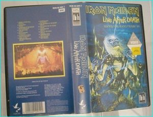 Iron Maiden: live after death world tour '85 VHS.
