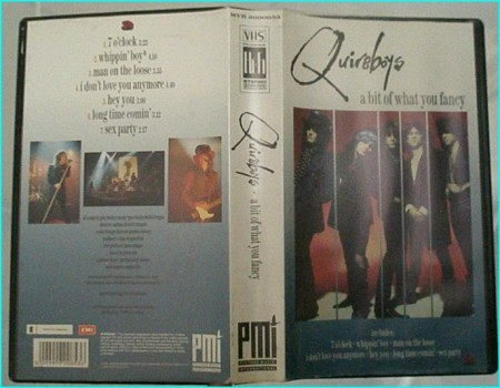Quireboys: A bit of what you fancy VHS. LIVE IN THE UK & LIVE AT MUSIC HALL COLOGNE 04.04.1990