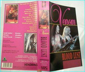 Venom: Bloodlust VHS. 60 minute live 1985. s