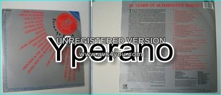21 Years of Alternative Radio 1 Compilation 2LP Bargain price! (Double LP) 1988 Peel Sessions series.