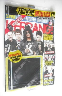 Kerrang magazine, Issue 1420. Awards cover. 23-6- 2012 Metallica, Slayer, Kyuss, Metal Blade Recs, Black Sabbath, Skindred +- CD