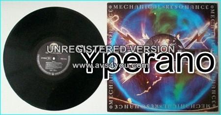 TESLA: Mechanical Resonance PROMO LP + Inner Sleeve (lyrics etc.) The classic dbut. s + videos.