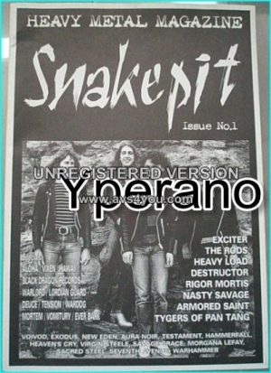 SNAKEPIT Issue No.1. Original print! Greatest magazine? VOIVOD, EXCITER, THE RODS, VIRGIN STEELE, HEAVY LOAD