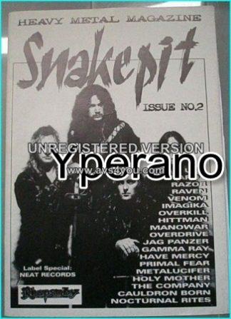 SNAKEPIT Issue No. 2. Greatest magazine? Rhapsody, Neat Metal Records, UFO, Razor, Raven, Venom, Manowar, Overkill, Hittman..