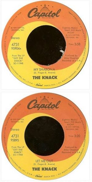 "The KNACK: My Sharona 7"" Free for vinyl orders of £25+"