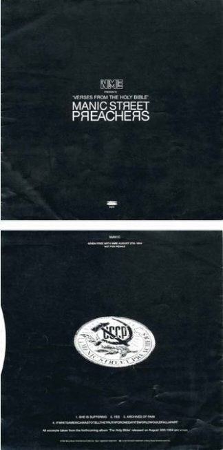 "MANIC STREET PREACHERS: Verses From The Holy Bible 7"" black flexi-disc PROMO. Track extracts + spoken word. Check video"