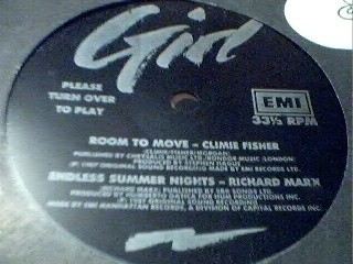 "CLIMIE FISHER / RICHARD MARX: room to move/endless summer nights 7"" Flexi disc. Check videos - samples"