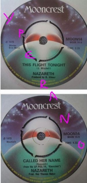 "NAZARETH: This Flight tonight 7"" Great cover song! Free for vinyl orders of £25+. s"