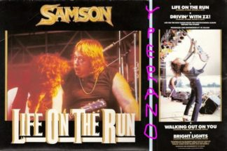 "SAMSON: Life on the Run 7"" Double single GATEFOLD. N.W.O.B.H.M."