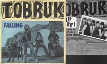 """TOBRUK: Falling 7"""" with competition insert. Quality UK Hard Rock / A.O.R. Check video. Highly recommended"""