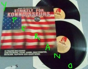 Striktly for Konnoisseurs: 2LP Various Artists. 25 song compilation. Music for Nations 1984. North American bands. s