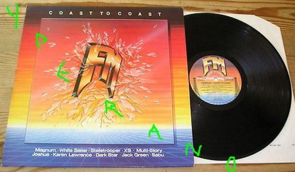 Coast To Coast LP 1987 FM Revolver  melodic Hard Rock A O R  UK & U S A   Magnum, StateTrooper, Sabu, Joshua, White Sister    Check samples