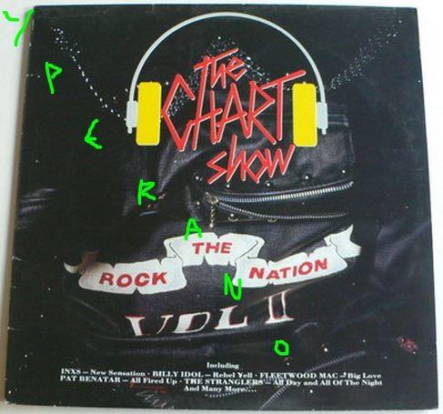 The Chart Show - Rock Nation Vol 2 LP. Aerosmith, Cheap Trick, Pat Benatar, INXS, Billy Idol, Gary Moore etc. Check videos