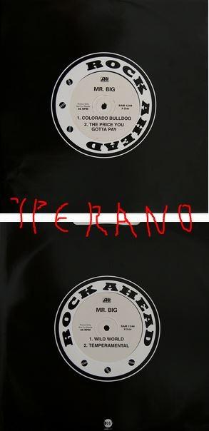 "Mr. BIG: Colorado Bulldog 12"" PROMO UK 1993. SAM 1244 + The Price You Gotta Pay + Wild World (cover) + Temperamental"