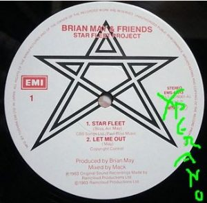 "Brian May & Friends: Star Fleet Project 12"" UK. No sleeve, just the vinyl. Free for orders of £38+ Check video."