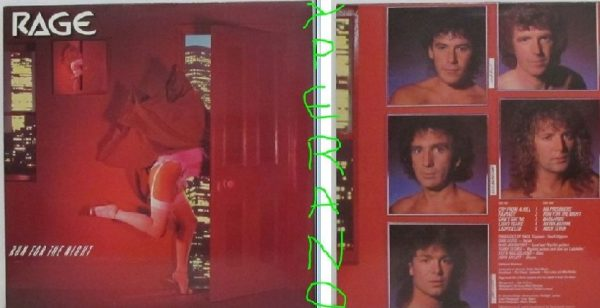 RAGE: Run for the night LP. Top melodic Hard rock / A.O.R 1981. Mint condition.