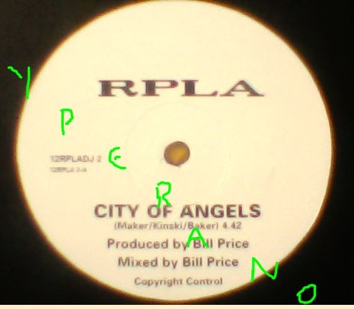 """RPLA: City of Angels 12"""" DJ PROMO. Similar to The Cult. Check video."""