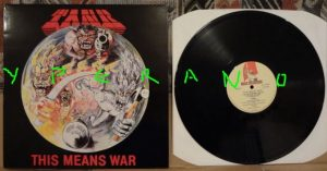 TANK: This means War LP. s. NWOBHM masterpiece