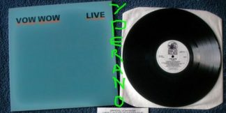 VOW WOW Live LP. Used. 1986 Legendary Hard Rock, Heavy Metal band from Japan. s