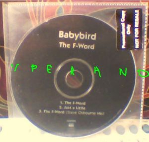 BABYBIRD: The F-Word CD PROMO housed in outer PVC sleeve.