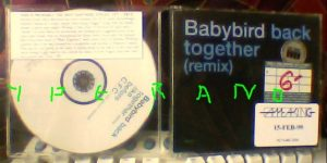 BABYBIRD: Back Together (remix) PROMO CD (3 songs). Check video