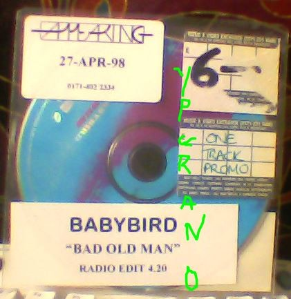 BABYBIRD: Bad Old Man PROMO CD. Free for CD orders of £25+ Check video