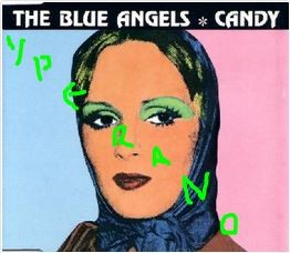 The BLUE ANGELS Candy CD. Rare. incl. Pink Floyd cover (Syd Barrett). The finest Irish band. Check live (Tv program) video