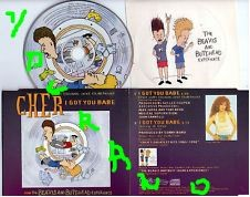 Cher with Beavis and Butt-head I Got you babe CD. Contains exclusive sticker!! Check video