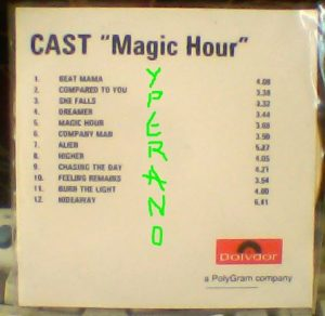 CAST: Magic Hour CD record label PROMO. Alternative Rock. s + video