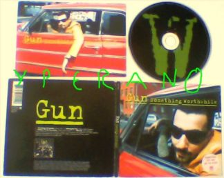 GUN: Something Worthwhile CD PROMO digipak + free postcard. Great David Bowie, Mark Bolan T-Rex covers & Word Up Live sessions