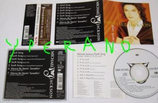 MICHAEL JACKSON: Earth song CD. Japanese 7 songs - 50 minutes! With obi strip + lyrics. ESCA 6360. Check video