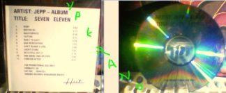 JEPP Seven Eleven CD PROMO. 11 TRACK PROMO CDR (CDHUT57).