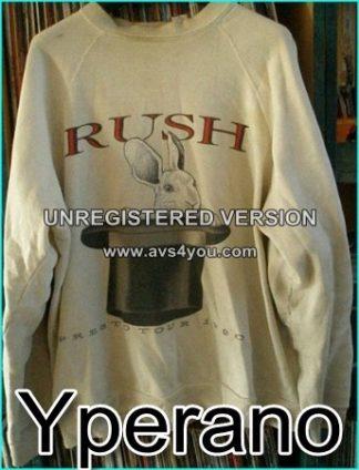 Rush: Presto Tour 1990. sweat Shirt. Long sleeve shirt. Rabbit in Top Hat. Original vintage from the Rush Fan club.