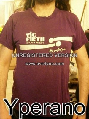 Vic Firth purple T-Shirt