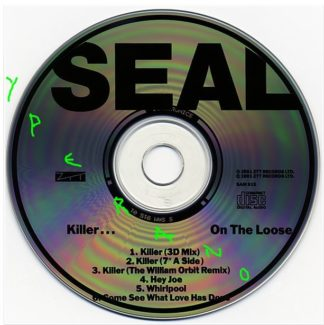 SEAL: Killer- on the Loose CD PROMO Japanese single. 6 songs. 3 live, incl. a great Jimmy Hendrix cover. Check video