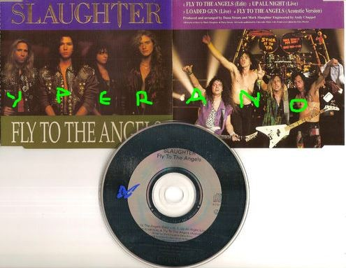 SLAUGHTER: Fly to the Angels CD Single PROMO with +2 live + 1 acoustic